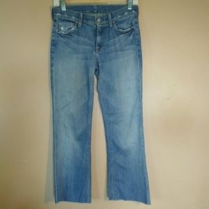 7FAM 25 Light Wash High Waisted Bootcut Jeans